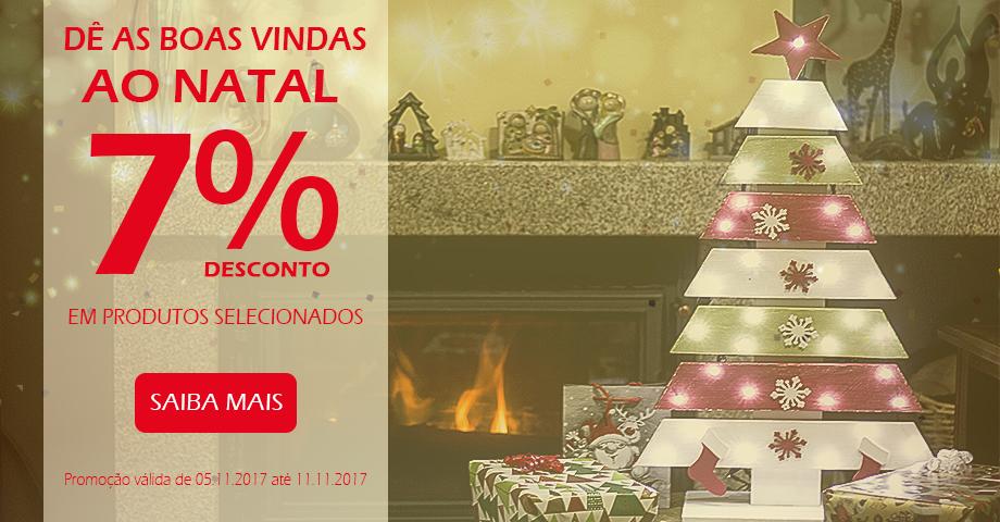 7% em produtos de Natal